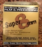 Super8/88 Color Reversal Film Stock with processing included